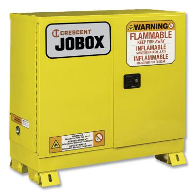 JOBOX 30 Gallon Flammable Manual Close Safety Cabinet - Yellow