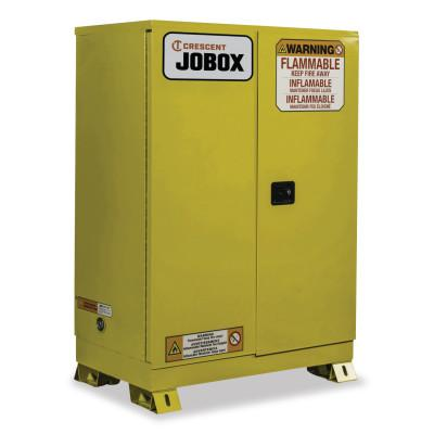 JOBOX 45 Gallon Flammable Manual Close Safety Cabinet - Yellow