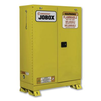 JOBOX 45 Gallon Flammable Self-Closing Safety Cabinet - Yellow