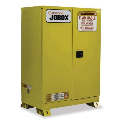 JOBOX 90 Gallon Flammable Manual Close Safety Cabinet - Yellow