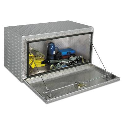 JOBOX Underbed Truck Boxes, 24 in W x 18 in D x 18 in H, Aluminum, Silver