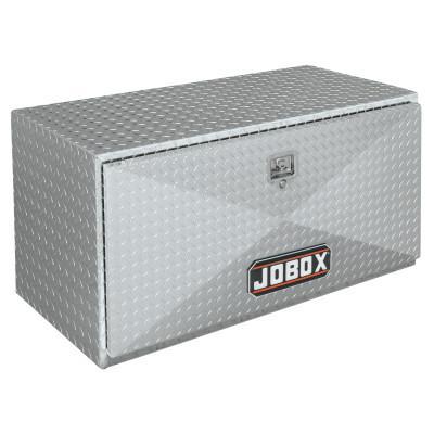 JOBOX Underbed Truck Boxes, 48 in W x 18 in D x 18 in H, Aluminum, Silver