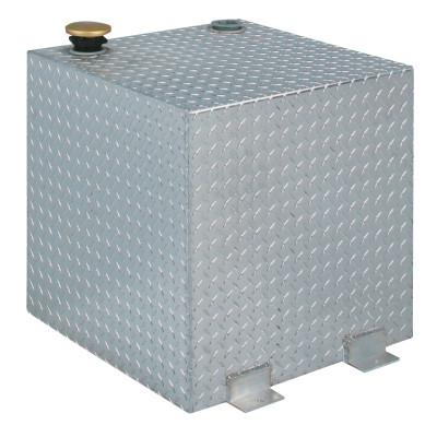 JOBOX Aluminum Transfer Tanks, Square, 48 gal