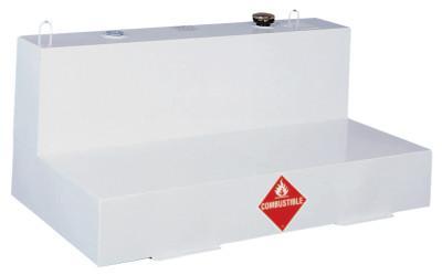 JOBOX Liquid Transfer Tanks, L-Shaped, 103 gal to 109 gal, Steel, White