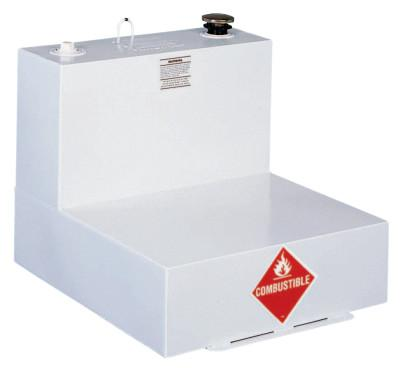 JOBOX Liquid Transfer Tanks, L-Shaped, 51 gal to 54 gal, Steel, White