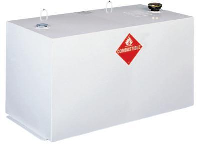 JOBOX Liquid Transfer Tanks, Rectangular, 96 gal to 107 gal, Steel, White