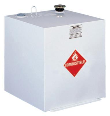 JOBOX Liquid Transfer Tanks, Square, 50 gal to 55 gal, Steel, White