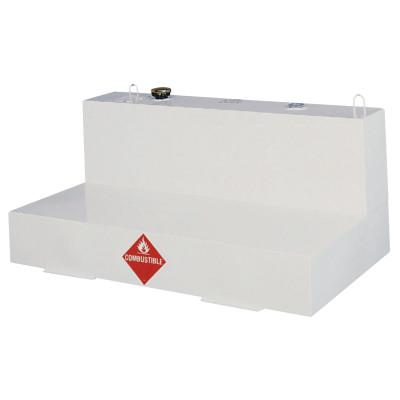 JOBOX Liquid Transfer Tanks, Low-Profile L-Shaped, 86 gal to 92 gal, Steel, White