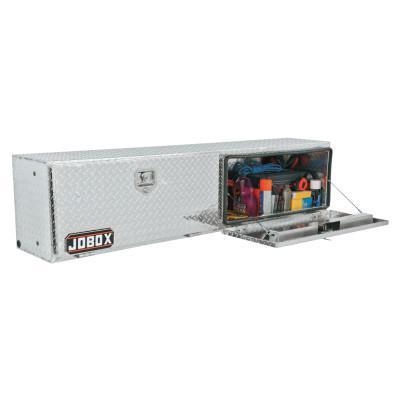 JOBOX Topside Truck Boxes, 44 in W x 15 in D x 17 in H, Aluminum, Silver