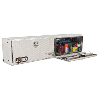 JOBOX Topside Truck Boxes, 65 in W x 15 in D x 17 in H, Aluminum, Silver