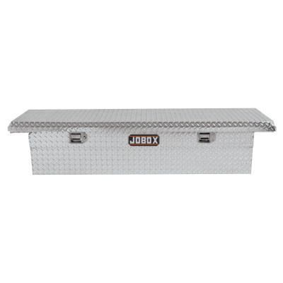"JOBOX Low-Profile Alum Single Lid Crossover Truck Box, 71 1/8"" x 21"" x 15 1/8"", Bright"