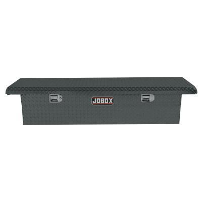 "JOBOX Low-Profile Alum Single Lid Crossover Truck Box, 71 1/8"" x 21"" x 15 1/8"", Black"