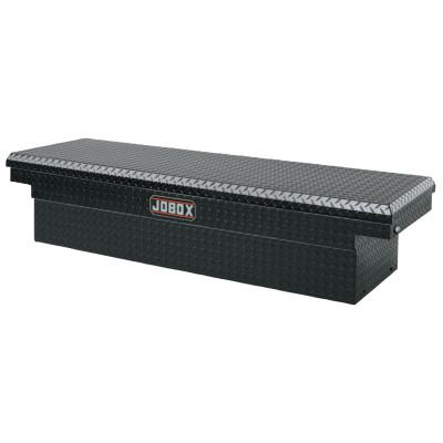 "JOBOX Aluminum Single Lid Crossover Truck Boxes, 71"" x 20 7/8"" x 17 1/4"", Black"