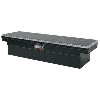 "JOBOX Aluminum Single Lid Crossover Truck Boxes, 71"" x 21"" x 19 7/8"", Black"