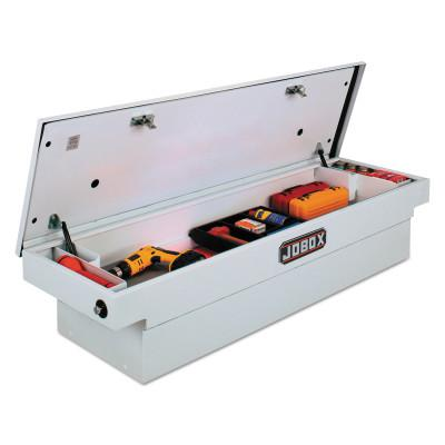 JOBOX DELTA PRO WHITE STEEL SINGLE LID FULLSIZE TOOL B