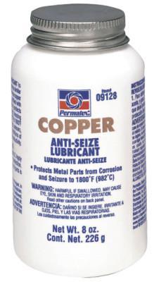 PERMATEX Copper Anti-Seize Lubricants, 8 oz Brush Top Bottle