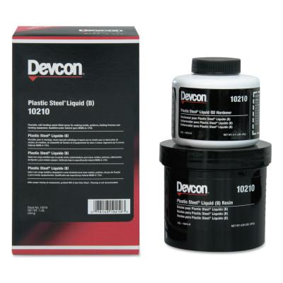DEVCON Plastic Steel Liquid (B), 1 lb, Dark Grey