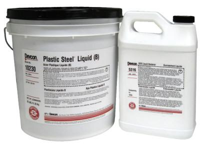 DEVCON Plastic Steel Liquid (B), 25 lb, Dark Grey