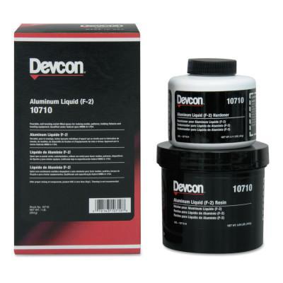 DEVCON Aluminum Liquid (F-2), 1 lb, Aluminum