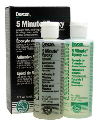DEVCON 5 Minute Epoxy, 15 oz, Dual Bottle, Light Amber