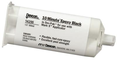 DEVCON 10 Minute Epoxy, 50 mL, Dev-Pak, Black