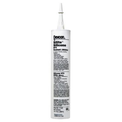 DEVCON Silite Silicone RTV, 10.3 oz Cartridge, White