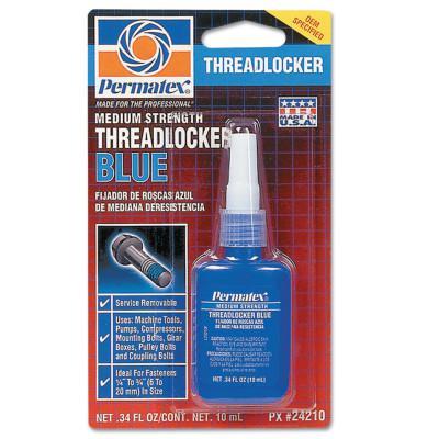 DEVCON Medium Strength Blue Threadlockers, 10 mL, 3/4 in Thread, Blue