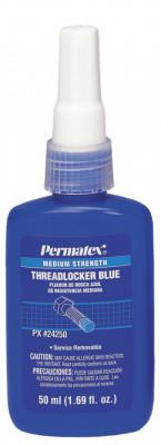PERMATEX Medium Strength Blue Threadlockers, 50 mL, 3/4 in Thread, Blue