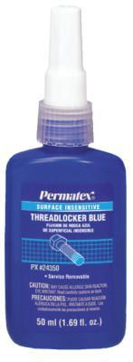 PERMATEX Surface Insensitive Blue Threadlockers, 50 mL, 3/4 in Thread, Blue