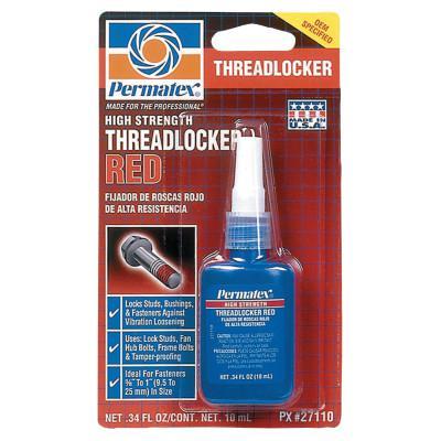 DEVCON Permatex High Strength Red Threadlocker, 10 mL, 1/4 in - 3/4 in