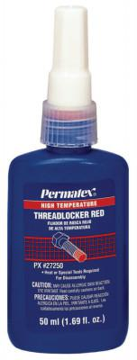 PERMATEX High Temperature Red Threadlockers, 50 mL, 1 1/2 in Thread, Red