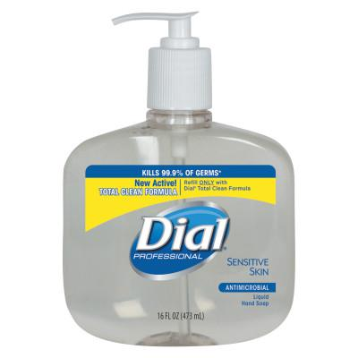 DIAL PROFESSIONAL Antimicrobial Soap for Sensitive Skin, 16oz Pump Bottle