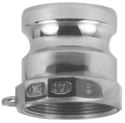 DIXON VALVE Andrews/Boss-Lock Type A Cam and Groove Adapters, 1 in (NPT), Aluminum