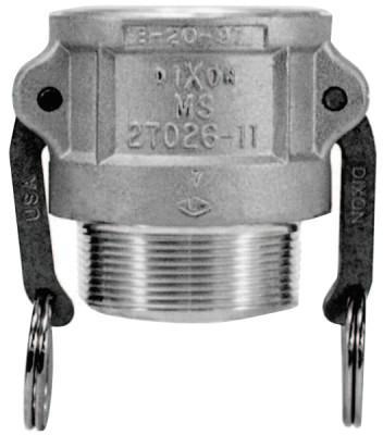 DIXON VALVE Andrews Type B Cam and Groove Couplers, 1 in (NPT), Aluminum