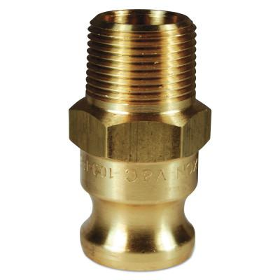 DIXON VALVE Andrews/Boss-Lock Type F Cam and Groove Adapters, 1 in x 1 in (NPT) Male, Brass