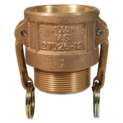DIXON VALVE Andrews Type B Cam and Groove Couplers, 1 in (NPT) Male, Brass