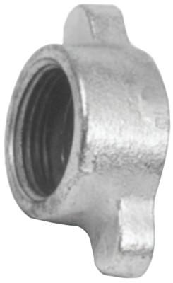 DIXON VALVE Malleable Iron Wing Nuts, 2 15/16 in, Iron