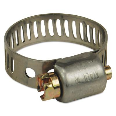"DIXON VALVE MH Series Miniature Worm Gear Clamps, 7/16-25/32"" Hose OD, Stnls Steel 300"