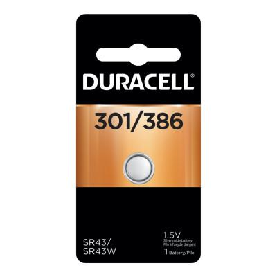 DURACELL Watch/Electronic Battery, 1.5V,  Silver Oxide Button Cell, 1 EA/PK