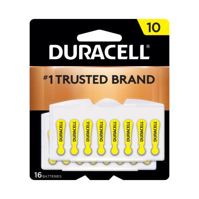 DURACELL Button Cell Hearing Aid Battery, #10