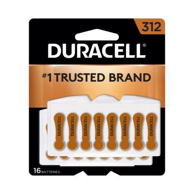 DURACELL Button Cell Hearing Aid Battery #312