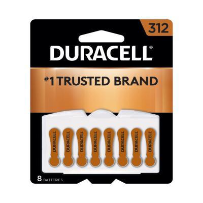 DURACELL Button Cell Zinc Air Battery, #312