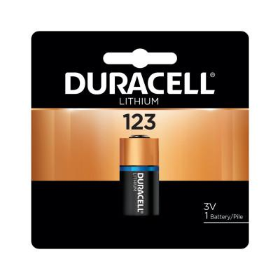 DURACELL Procell Battery, Lithium Cell, 3V, 123, 1 EA/PK