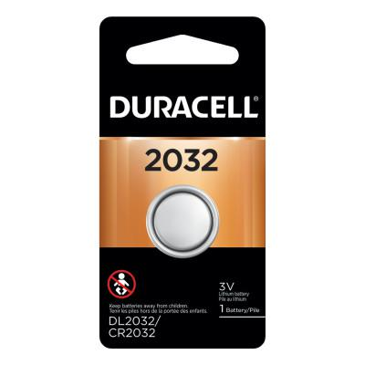DURACELL Lithium Battery, Coin Cell, 3V, 2032, 1 EA/PK