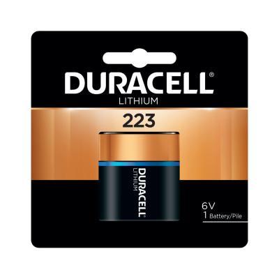 DURACELL Lithium Battery, 6V, 223, 1 EA/PK