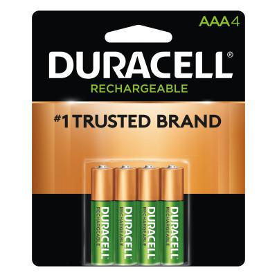 DURACELL Pre-Charged Rechargeable Batteries, NiMH, AAA, 1.2 V, 4 EA/PK