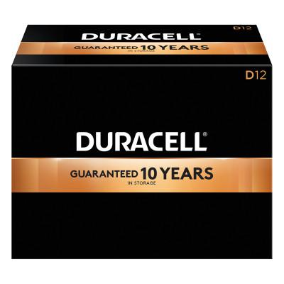 DURACELL CopperTop Alkaline Battery, 1.5V, D, 12/BX
