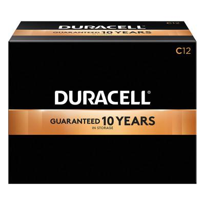 DURACELL CopperTop Alkaline Battery, 1.5V, C, 12/BX