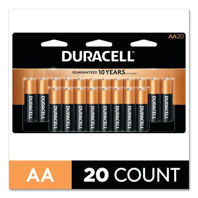 DURACELL CopperTop Alkaline Battery, 1.5V, AA, 20/PK