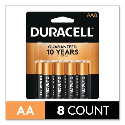 DURACELL CopperTop Alkaline Battery, 1.5V, AA, 8/PK
